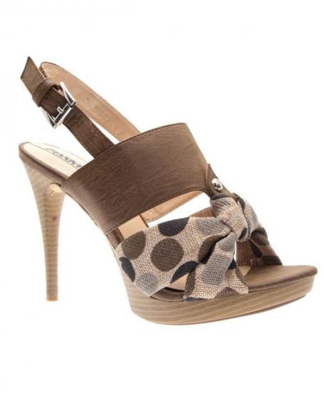 Chaussures femme Raxmax: Sandales à plateau marron