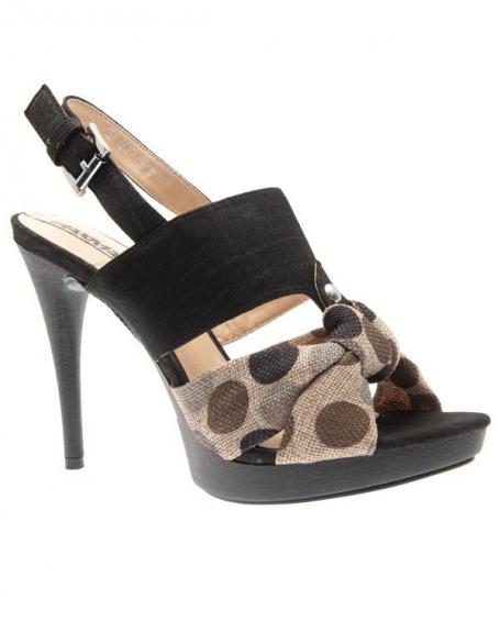Chaussures femme Raxmax: Sandales à plateau noire
