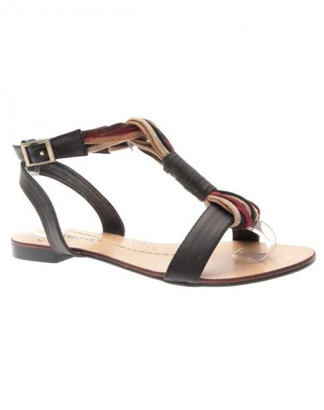 Chaussures femme Raxmax: Sandales style ethnique noire