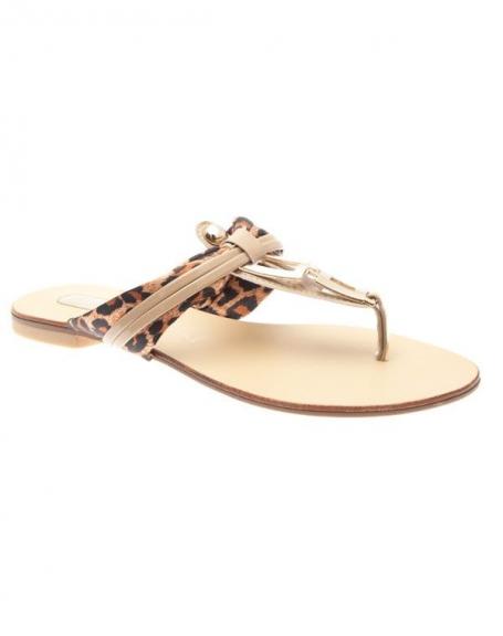 Chaussures femme Raxmax: Sandales style salomé abricot