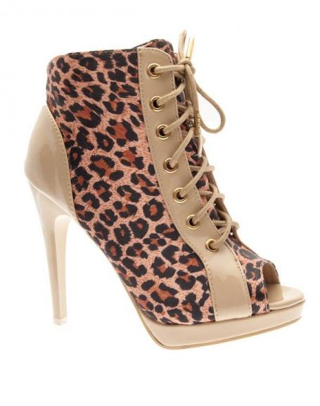 Chaussures femme Raxmax: Talons ouverts léopard