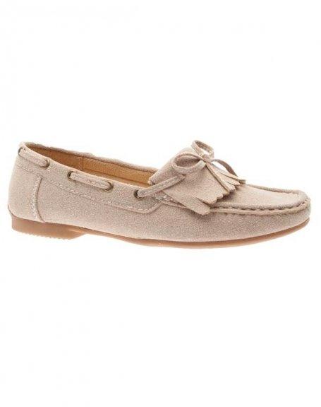 Chaussures femme Sensazione: Mocassins beige