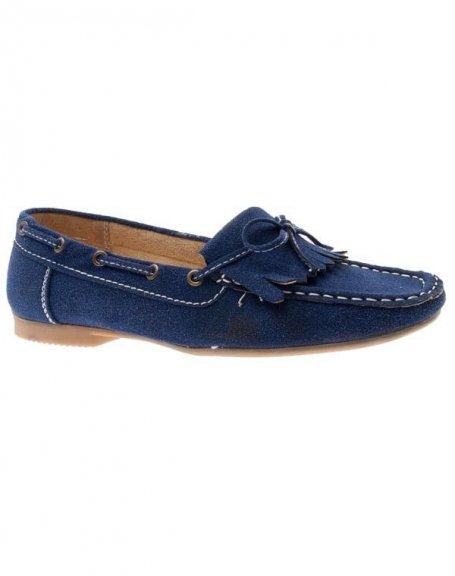 Chaussures femme Sensazione: Mocassins bleu