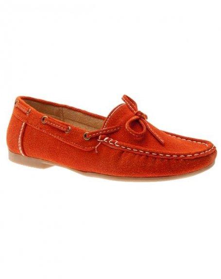 Chaussures femme Sensazione: Mocassins orange