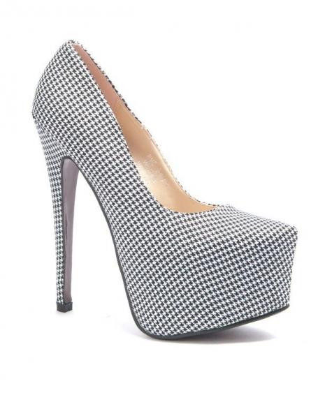 Chaussures femme Sergio Todzi: Escarpins damier noir/blanc