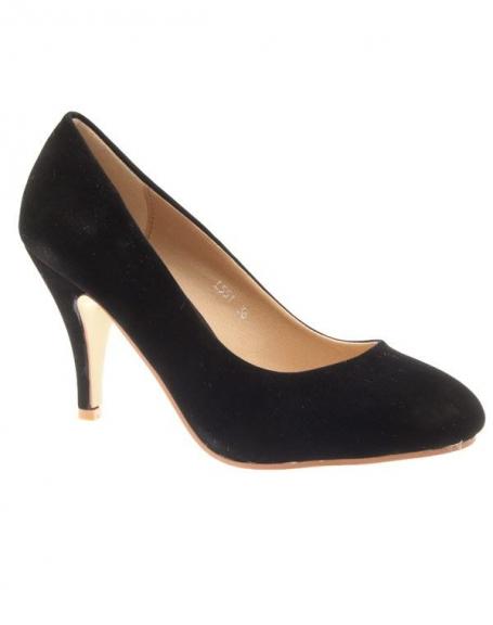 Chaussures femme Sergio Todzi: Escarpins Noirs en suédine