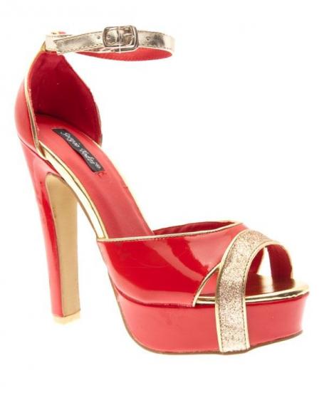Chaussures femme Sergio Todzi: Escarpins ouverts à plateau Rouges