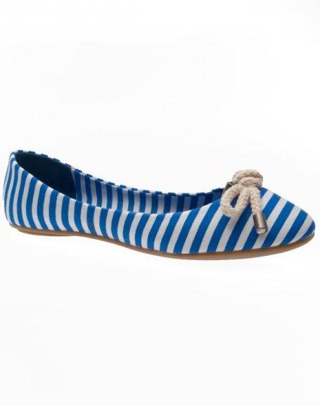 Chaussures femme Sinly: Ballerines bleu