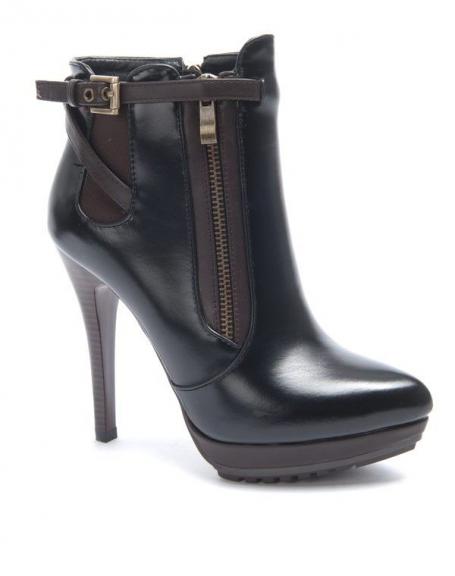 Chaussures femme Sinly: Botte à talon noire