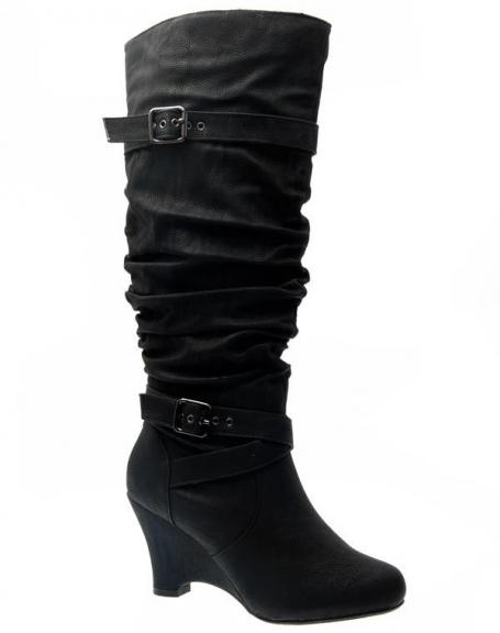 Chaussures femme Sinly: Bottes noires