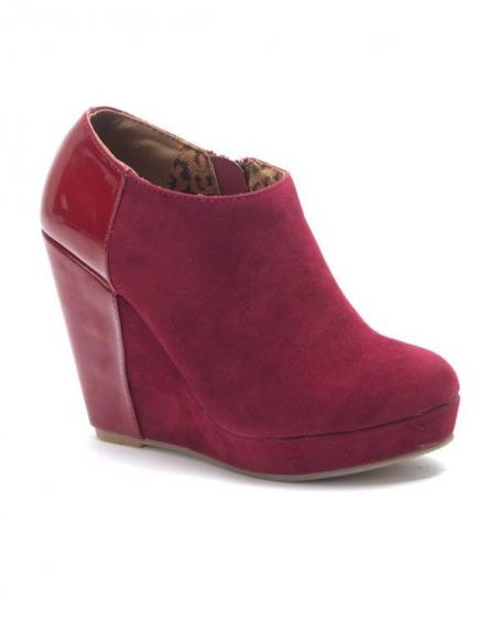 Chaussures femme Sinly: Bottines à talons compensés rouge