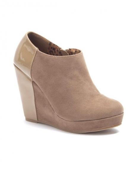 Femme À Talons Taupe SinlyBottines Compensés Chaussures 8wPOnk0X