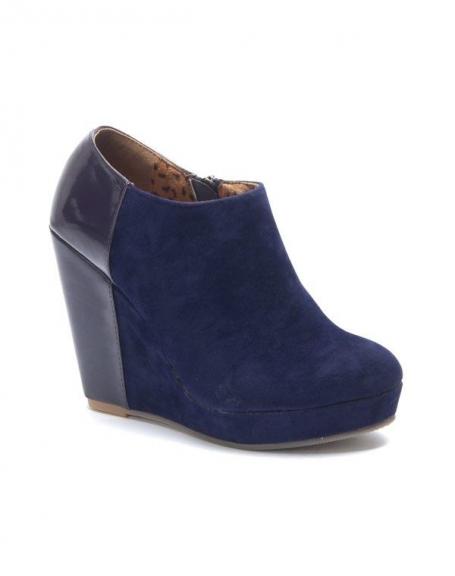 Compensés Femme Chaussures Talons SinlyBottines Violet À FlcJK1