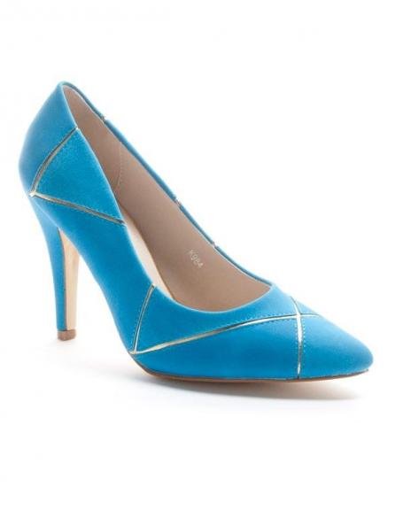Chaussures femme Sinly: Escarpin pointu - bleu