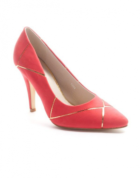 Chaussures femme Sinly: Escarpin pointu - rouge