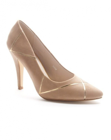 Chaussures femme Sinly: Escarpin pointu - taupe