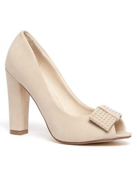 Chaussures femme Sinly: Escarpins beiges (abricots)
