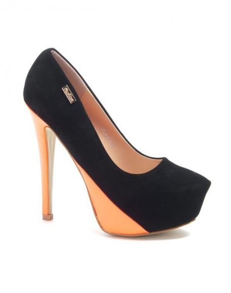 Chaussures femme Sinly: Escarpins bi couleur noir