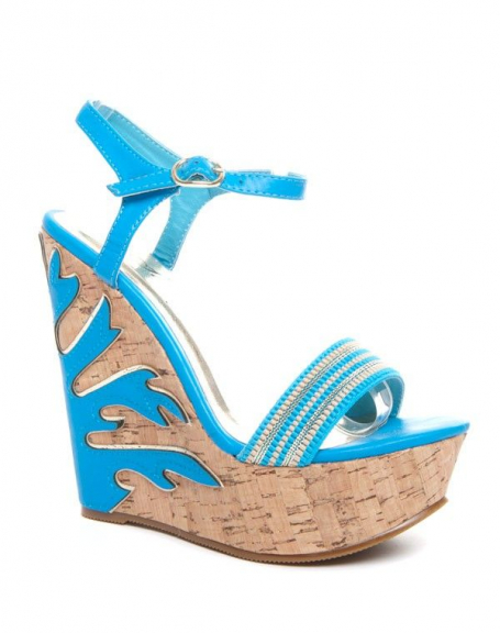 Chaussures femme Sinly: Sandales bleues