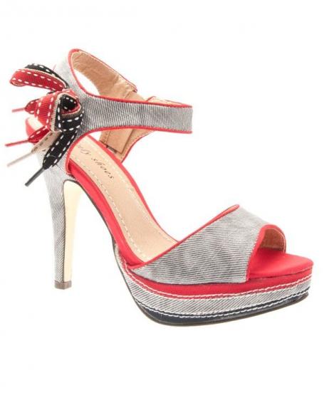 Chaussures femme Sinly Shoes: Escarpins ouverts à brides rouges