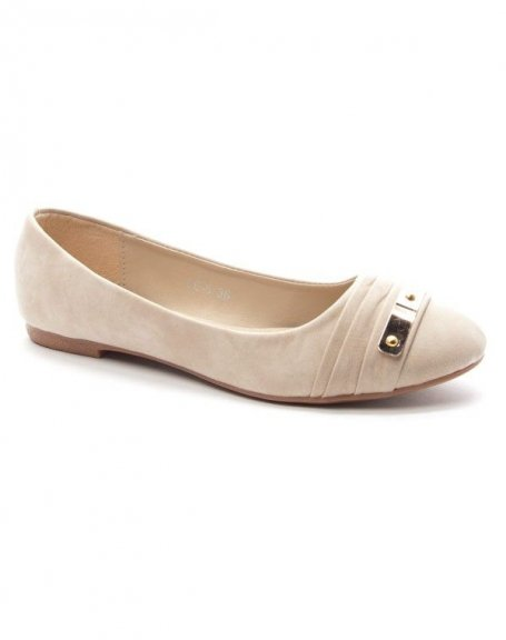 Chaussures femme Style Shoes: Ballerine beige