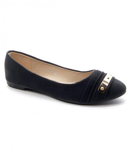 Chaussures femme Style Shoes: Ballerine noir