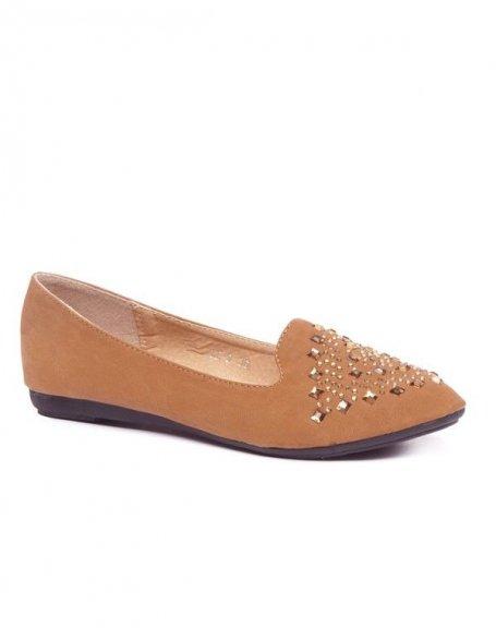 Chaussures femme Style Shoes: Ballerine slipper camel