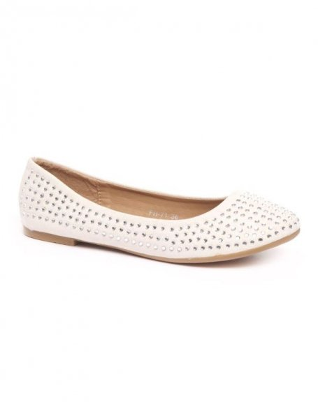 Chaussures femme Style Shoes: Ballerine strass beige