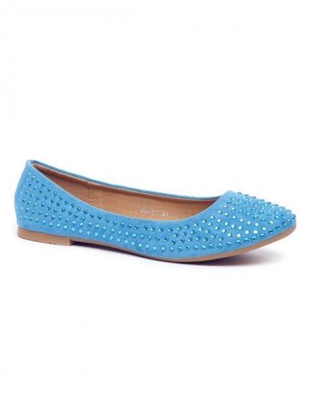 Chaussures femme Style Shoes: Ballerine strass bleu