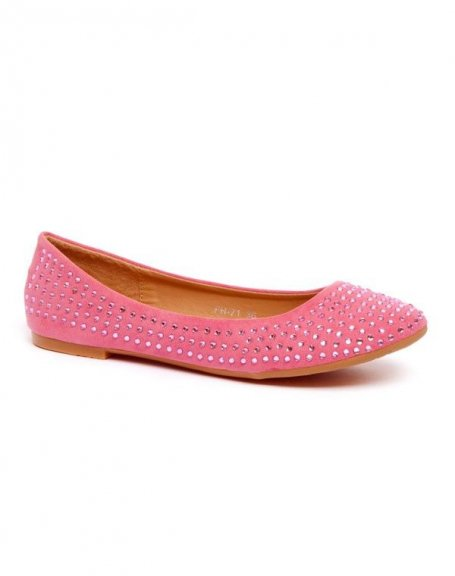Chaussures femme Style Shoes: Ballerine strass rose