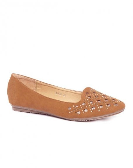 Chaussures femme Style Shoes: Ballerines à strass camel
