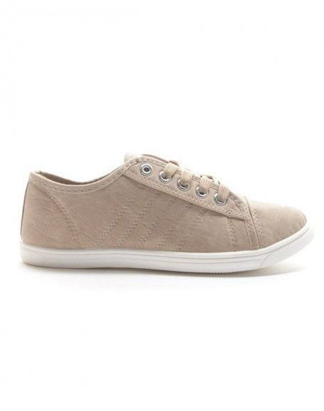Chaussures femme Style Shoes: Basket basse - beige