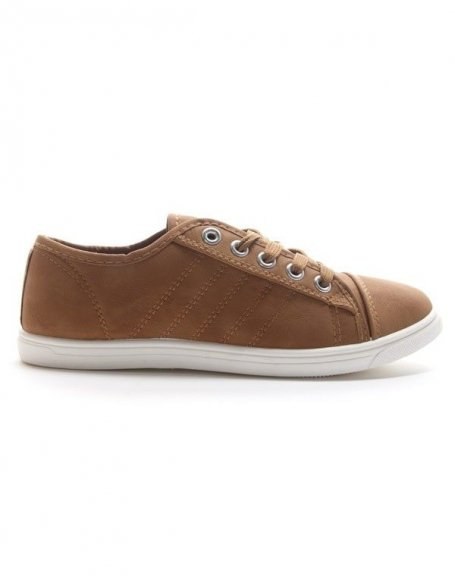 Chaussures femme Style Shoes: Basket basse - camel