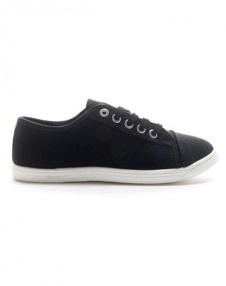 Chaussures femme Style Shoes: Basket basse - noir