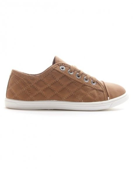Chaussures femme Style Shoes: Basket camel
