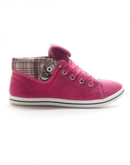 Chaussures femme Style Shoes: Basket mi montante fuchsia