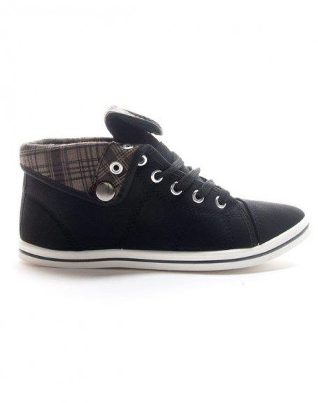Chaussures femme Style Shoes: Basket mi montante noir