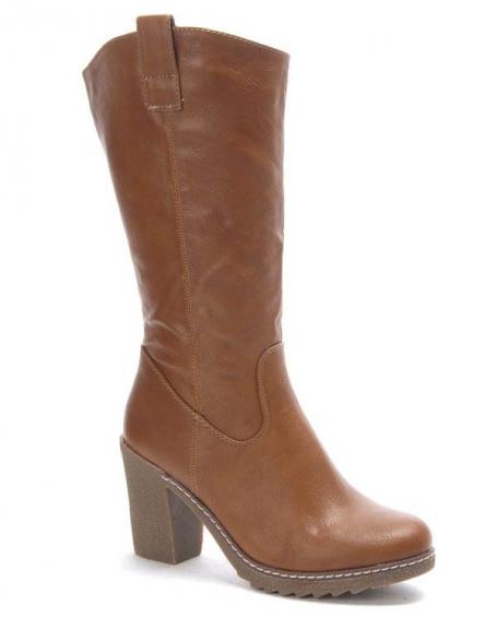 Chaussures femme Style Shoes: Botte à talon camel