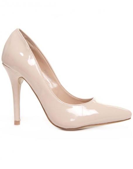 Chaussures femme Style Shoes: Escarpin beige vernis