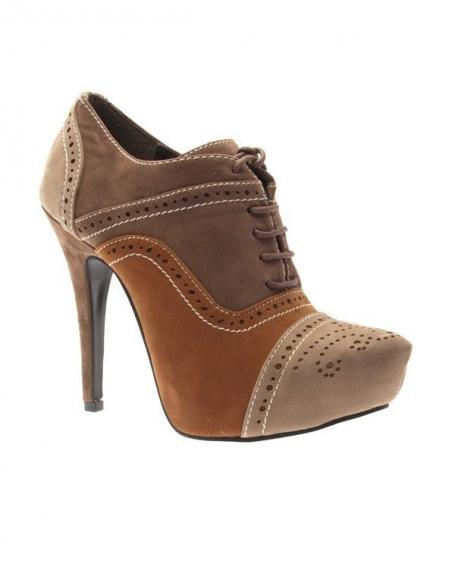 Chaussures femme Style Shoes: Escarpin bout beige