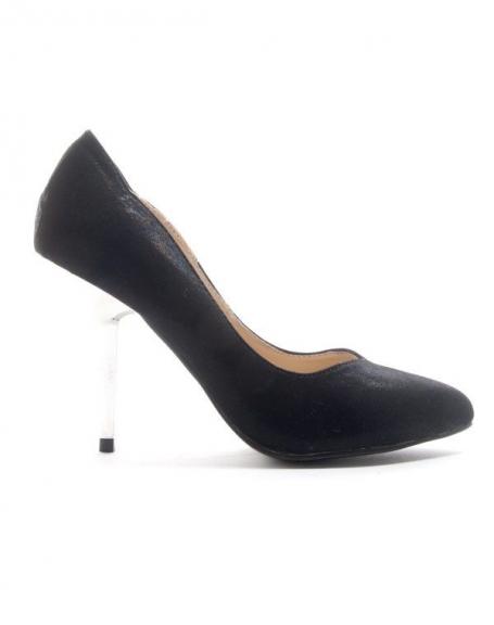 Chaussures femme Style Shoes: Escarpin brillant - noir