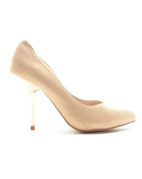 Chaussures femme Style Shoes: Escarpin brillant - or