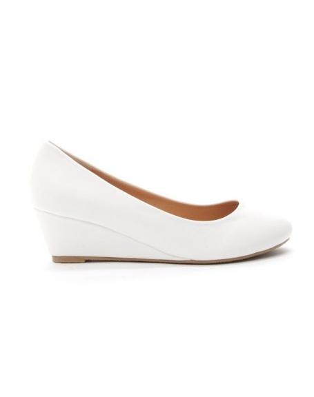 Chaussures femme Style Shoes: Escarpin compensée blanc