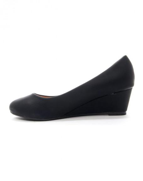 Chaussures femme Style Shoes: Escarpin compensée noir