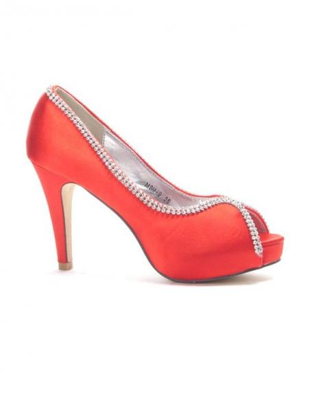 Chaussures femme Style Shoes: Escarpins à strass rouge