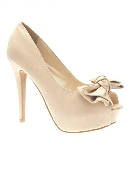 Chaussures femme Style Shoes: Escarpins beiges
