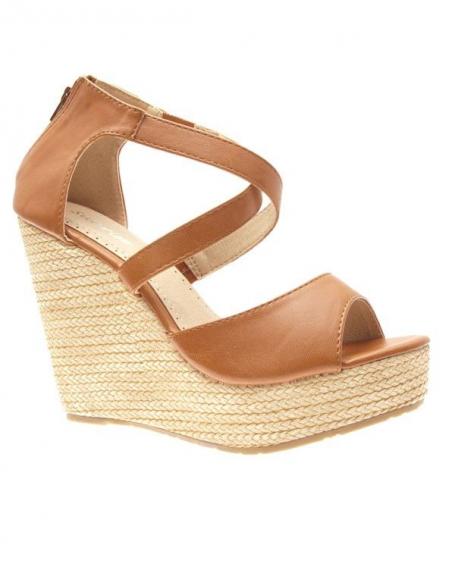 Chaussures femme Style Shoes: Escarpins compensés camel