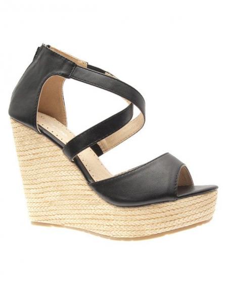 Chaussures femme Style Shoes: Escarpins compensés noirs