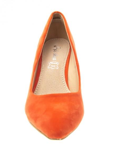Chaussures femme Style Shoes: Escarpins orange