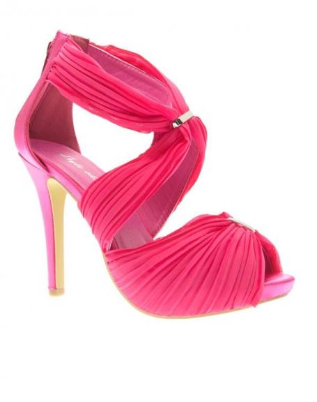 Chaussures femme Style Shoes, Escarpins ouvert fuchsia